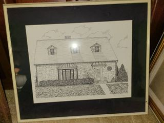 Gary Carson Framed Art 16 x 18 in