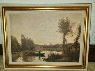 Corot Framed Art The lake 18 x 24 in