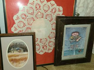 Framed Gary Patterson Art with Other Wall Decor