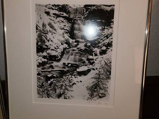 Charles Phillips Framed Brooks lakes Falls Photograph 18 5 x 14 5 in