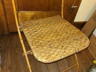 Folding Wicker Chair