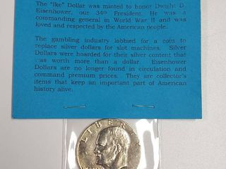1974 Eisenhower Dollar   24K Gold Plated