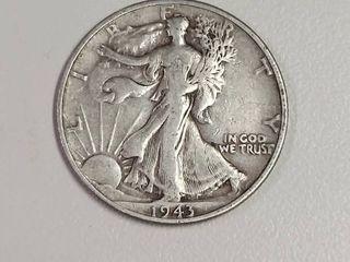 1943 Walking liberty Silver Half Dollar