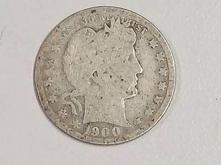 1900 Barber Silver Quarter