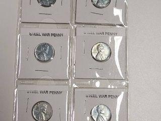 Card of 6 Steel War Pennies