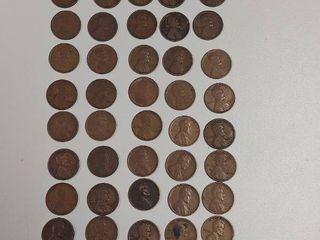 50  1920s lincoln Head Wheat Pennies