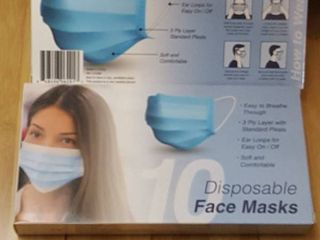 2  10 packs disposable face masks