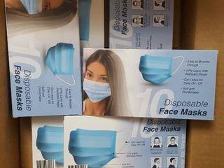 Six  10 ct  pkg  disposable face masks