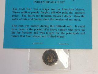 1863 Civil War Indian Head Cent