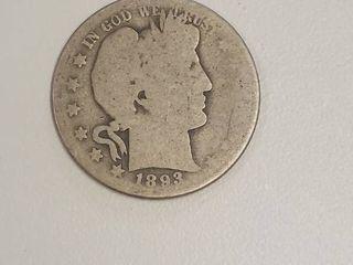 1893 O Barber Silver Half Dollar