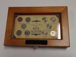 Nickel Collection   Includes 1868 Shield Nickel  1901 V Nickel  1936 Buffalo Nickel  1944 Silver War Nickel  and Jefferson Westward Journey Nickels