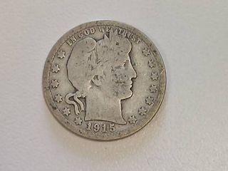 1915 Barber Silver Quarter
