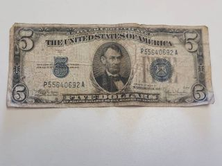 Series 1934C  5 Silver Certificate