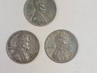1943 Steel War Pennies   P D S Mint Marks