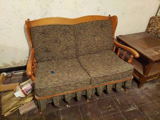 2 loveseats   Maple Frame with Cushions