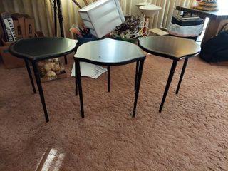 3 Black Tables