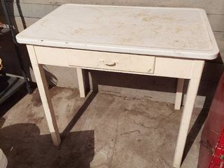 Porcelain Top Table with Drawer