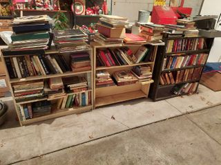 3 Shelves with Books