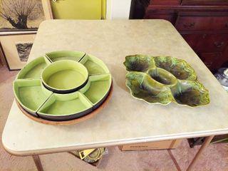 2 Relish Trays