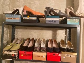 9 pairs pumps different sizes and brands