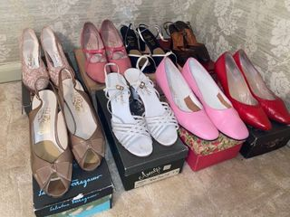 8 pairs of pumps   some Italian leather