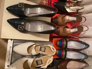 8 pairs of designer pumps and heels