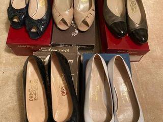 5 pairs Italian made Salvatore Ferragamo shoes