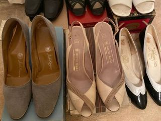 6 pairs of heels some Italian leather