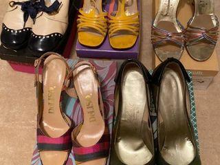 5 pairs of heels