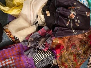 lot of scarves and headwraps