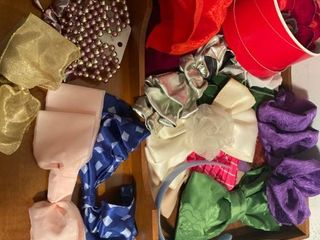 assorted hair bows and barrettes