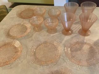 rose glass dishes