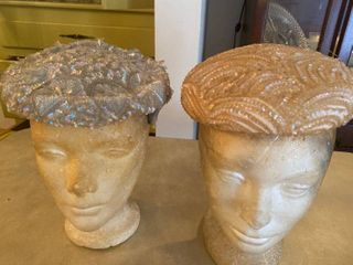 two sequin hats