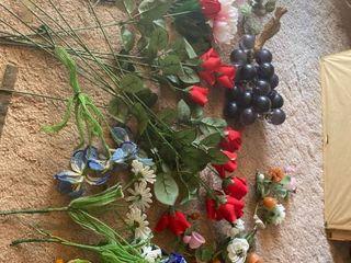 faux floral decor