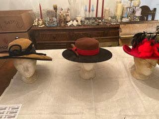 3 fashion hats one is 100  wool