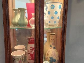 Contents of Curio Cabinet   Vases