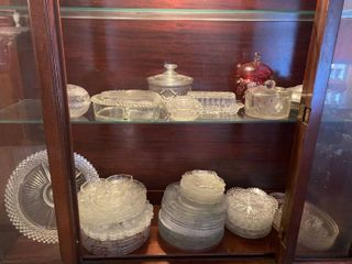 all dishes in cabinet   cabinet not included