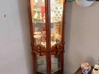 lighted Curio Cabinet   Contents Not Included