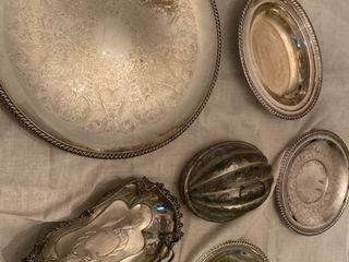 platters some are silverplated