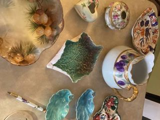 Versailles Bavarian bowl and other decorative dishes