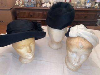 3 black hats