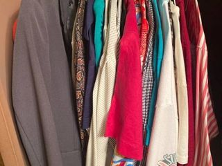 lot of womens clothes   all In closet