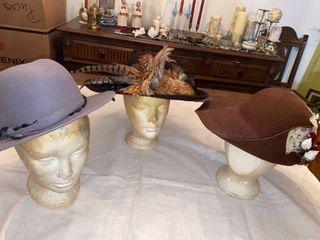 3 wool hats