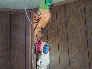 2 Hanging Birds in Hoops