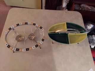 2 Mid century Serving Dishes