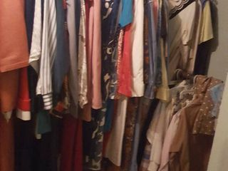 All clothing in basement closet