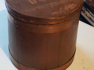 Wooden bucket   missing handle