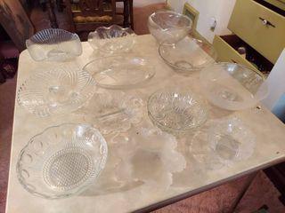 Assorted Glassware   Bowls