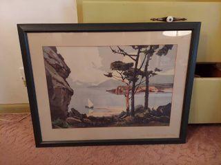 Framed Artwork   lone Pines by Peri