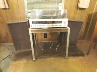 Montgomery Wards Stereo with Speakers and Cart